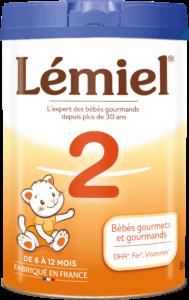 Boîte de lait Lemiel 2ème age