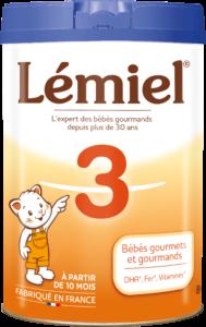 Boîte de lait Lemiel 3ème age